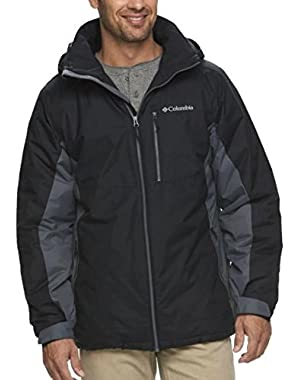 Columbia Snow Shooter Winter Jacket Men's Large Waterproof Hooded Black Grey