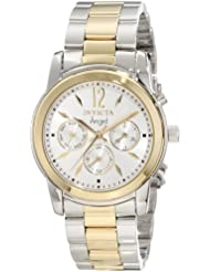 Invicta Womens 11735 Angel Silver Dial Two Tone Stainless Steel Watch