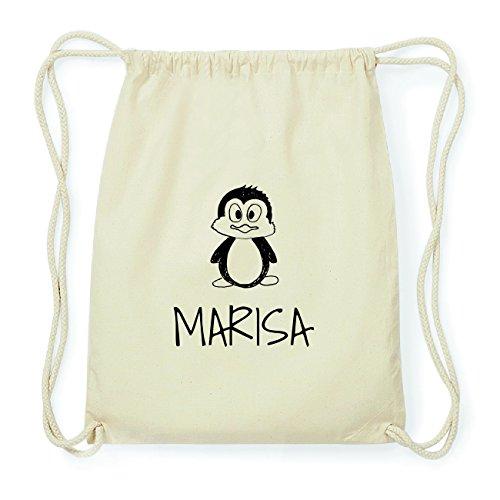 JOllipets MARISA Hipster Turnbeutel Tasche Rucksack aus Baumwolle Design: Pinguin TEyDEpxgrj
