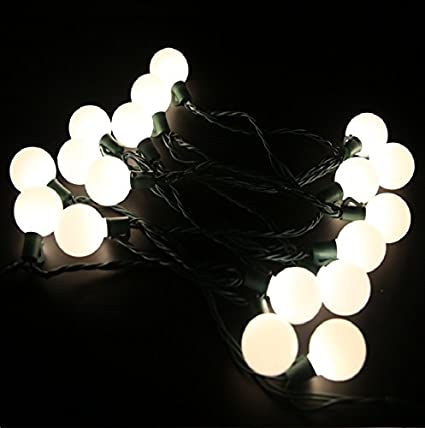heavy duty commercial outdoor globe string lights17ft g40 25 led warm white christmas lights