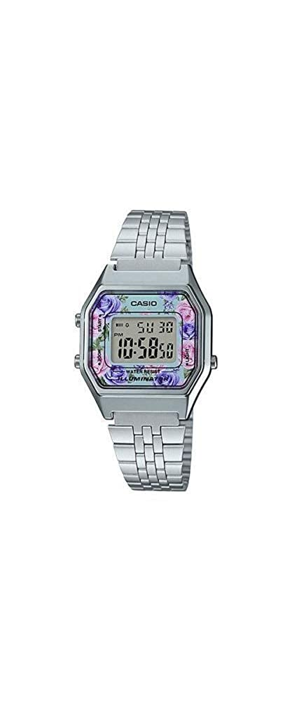 Amazon.com: Casio LA680WA-2C Womens Vintage Floral Dial Alarm Chronograph Digital Watch: CASIO: Watches