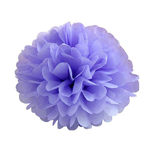 (entertainment-moment 5Pcs Tissue Paper Pompoms Wedding Decorative Paper Flowers Ball Baby Shower Birthday Party Decoration Paper,Violet,10Cm 4Inch)