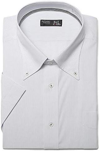 サカゼン B&T CLUB 大きいサイズ メンズ ファブリーズ 消臭抗菌 形態安定 ボタンダウン 半袖 ワイシャツ RELAX BODY