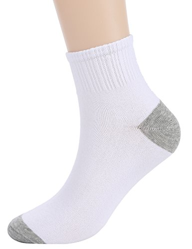 Mens Thin Crew Socks White Ankle Quarter Cotton Sock 6