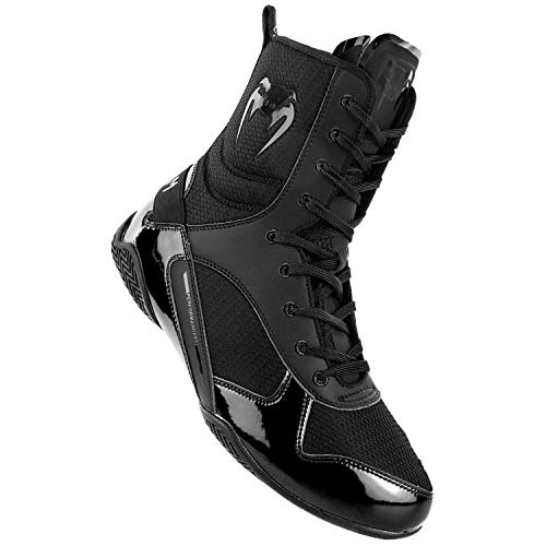 Venum Elite Boxing Shoes - Black/Black - Size 10 (44)