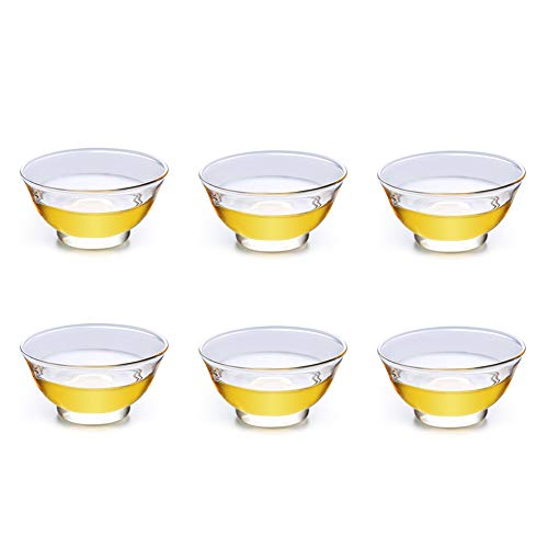 - Teacup, Borosilicate Glass, Small Glass Cup, 90ml Office Household Transparent Coffee Cup Glass, 6pcs