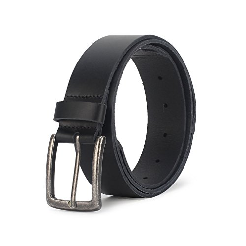 TONFAITH High Quality Men's Classic Genuine Leather Belt Casual Style With Anti-Nickel - Free Nickel