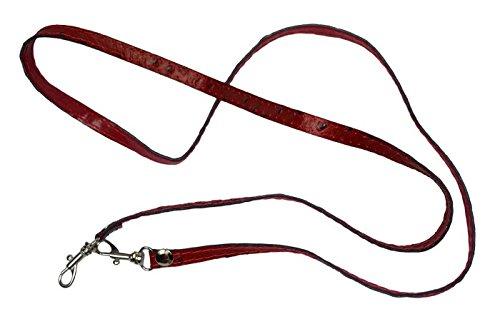 Schöne praktische Leder Kleine rote Handtasche aus Leder Fibbia Rossa über die Schulter