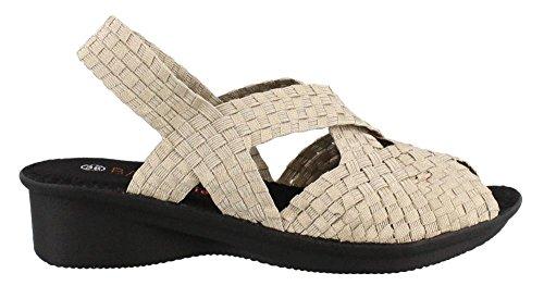 Bernie Mev Womens, Kira Low Heel Sandals Light Gold