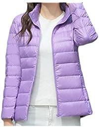 cbb1a1a68f7 Outdoor Solid Zip Up Lightweight Quilted Padding Puffer Jacket Coat. KLJR- Women