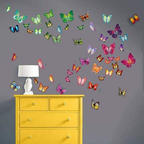 Walplus WS3013 Paquete combo de mariposas más WS1022, adhesivo ...