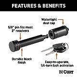 CURT 23518 Black Trailer Hitch Lock, 5/8-Inch Pin