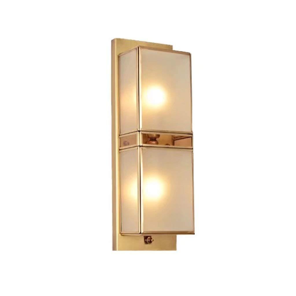 TJTJ アメリカのすべての銅の壁ランプのリビングルームの寝室のバルコニー中庭の廊下ベッドサイドのランプ B07S23Q2XH
