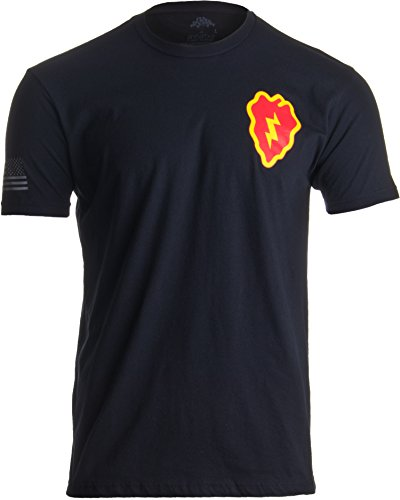 Ann Arbor T-shirt Co. 25th Infantry Division & Sleeve Flag   Military US Army Tropic Lightning - How Of To Shirt A A Out Make Flag
