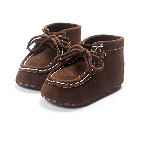 Bañador para bebé Boys algodón high-top Zapatillas negro negro Talla:12-18 meses café