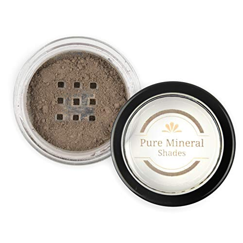 Mineral Eyebrow Powder by NuBeauti - Natural Brow Makeup Kit with Angled Contour Brush for Precision Sculpting to Color Eyebrows Precisely for Beautiful Perfect Professional Brows - (Medium Brown)