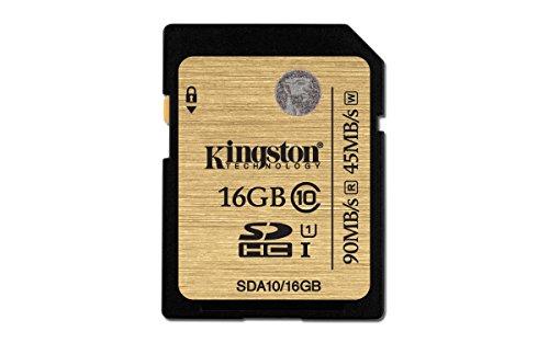 Kingston Digital 16GB SDHC Class 10 UHS-I Flash Card (SDA...
