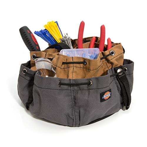 Dickies Work Gear – 12-Pocket Parachute Style Bag – 57004 – Grey/Tan Parachute Work Bag – Tool Bag – Construction – Snap-Secured Tape Strap – 8.8 oz. by Dickies Work Gear (Image #1)
