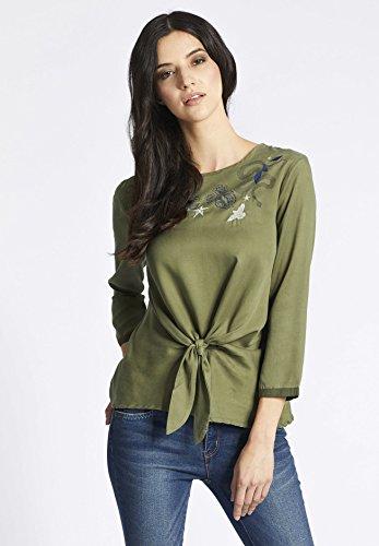 Camisas Manga Mujer Para Khujo Verde Larga Oliva 8fwAqZ