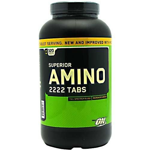 Optimum Nutrition Superior Amino 2222 Tabs - 320 Tablets (2222 Amino Caps)