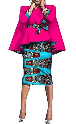 Coolred-femmes Printemps Floral Taille Smockée Robe Africaine Changement Set 8