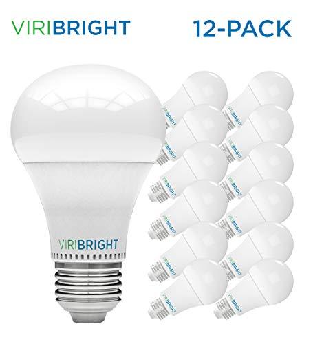 LED Light Bulbs, Viribright (13w) 100 Watt Equivalent Light Bulbs, General Purpose A19 LED Bulbs w/ E26 Medium Base,UL Listed (2700K - Warm White, A19 - 12 ()