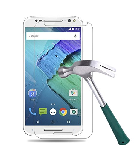 Moto X Pure Edition Screen Protector,TANTEK [Bubble-Free][Anti-Scratch][Anti-Fingerprint] Tempered Glass Screen Protector for Motorola Moto X Pure Edition (2015) / X Style,[Lifetime Warranty]-[1Pack]