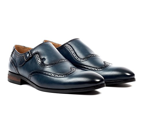 Santino Luciano Adolfo Men's Single Monk Strap Wingtip Dress Shoe