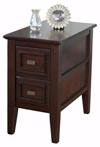 Ashley Furniture Signature Design   Larimer Chair Side End Table   2 Drawer   Rectangular   Dark Brown