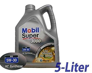 Mobil - 558.52.03 - Super 3000 XE 5W-30 Aceite de Motor 5W30 5 Litros: Amazon.es: Coche y moto