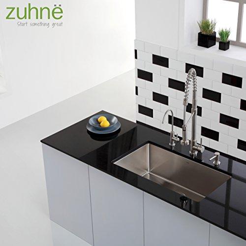 Zuhne modena 30 inch undermount single bowl 16 gauge for Kitchen set modena