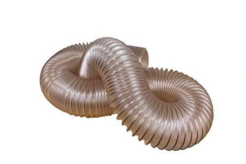 POWERTEC 70162 Polyurethane Dust Collection Hose | Flexible Puncture Resistant Dust Collection Hose | Heavy Duty Hose | 4