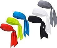 DEMIL Sports Headband - Head Tie Tennis Tie Hairband - Sweatbands Headbands Wristbands Head Wrap - Ideal for W