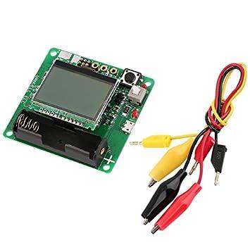 Test Clip New M328 Transistor Tester LCR Capacitance ESR Meter USB Charging