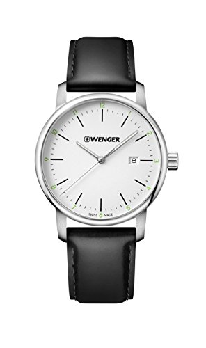 Wenger-Mens-Urban-Classic-Quartz-Stainless-Steel-and-Leather-Casual-Watch-ColorBlack-Model-011741109