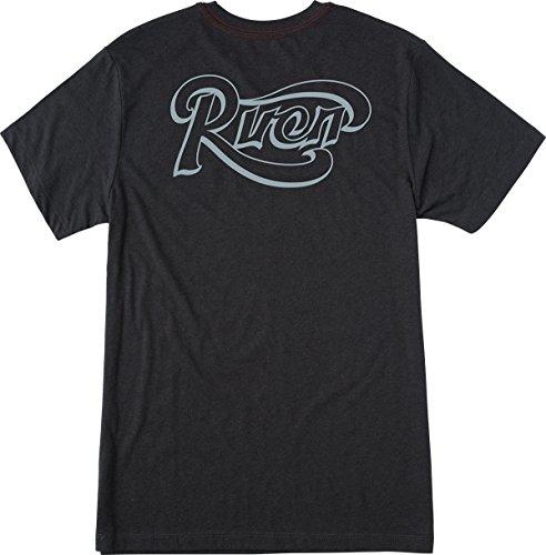 RVCA Men's Scroll Tee, Pirate Black, X-Large (T-shirt Scroll)