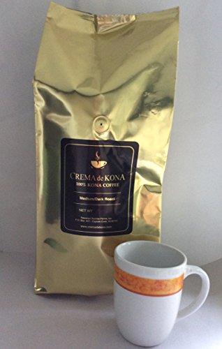 CREMA de KONA Roasted 100% Kona Coffee Beans (Medium Dark Roast, 5pound) by CREMA de KONA
