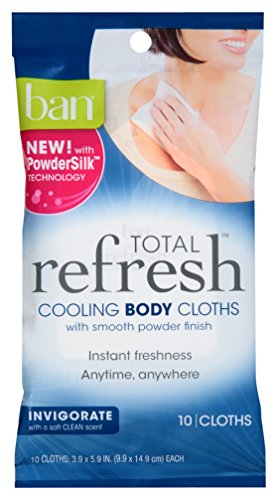 (2 Pack) Ban Total Refresh Cooling BODY Cloths :: Invigorate Fresh Scent