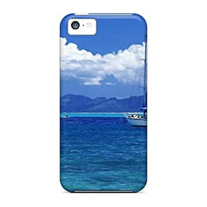 For BvOKQKf313KMgrJ The Sailboat Protective Case Cover Skin/iphone 5c Case Cover