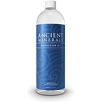 Ancient Minerals Magnesium Oil Refill 33.8oz. - Pure Genuine Zechstein Magnesium Chloride Supplement - Best Topical Skin Application for Dermal Absorption