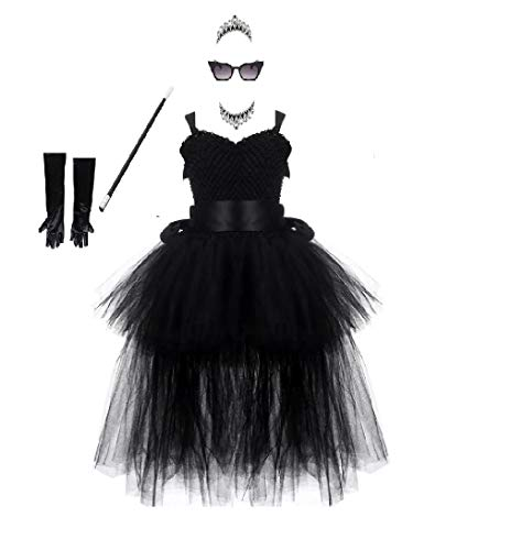 Hepburn Inspired Tutu Dress Costume from Chunks of Charm (24 Mos/Dress) Black]()