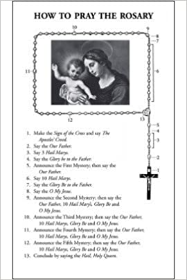 graphic relating to Luminous Mysteries of the Rosary Printable named How towards Say the Rosary with Luminous Mysteries Leaflet (Pack