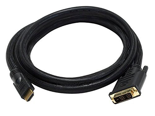 Monoprice 6-Feet 24AWG CL2 High Speed HDMI to DVI Adapter Cable with Net Jacket, Black (102218)