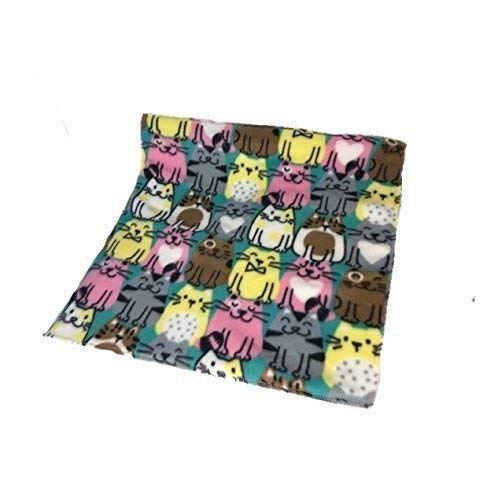 Created By Laura | Fleece Pee Pad | Pee-Proof | Happy cats Pattern | Perfect For Protecting Furniture and Clothing From Pet Pee | Anti-Shrink Design | Custom Sizes Offered | 18x18 Inches