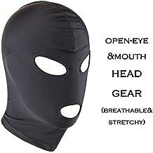 Chris&Je Zentai Costumes Party Halloween black Mask/Hood For Slenderman