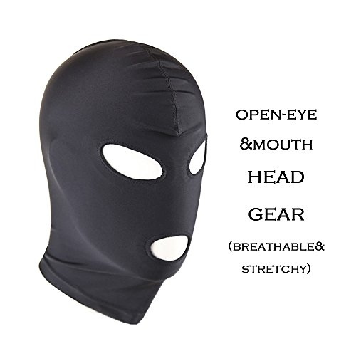 Slenderman Halloween (Chris&Je Zentai Costumes Party Halloween black Mask/Hood For Slenderman)