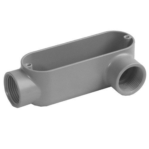 Morris 14100 Rigid Conduit Body, Aluminum, Type LL, Threaded, 1/2