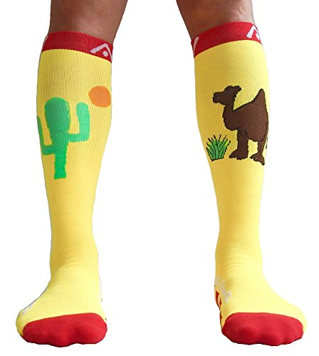 A-Swift Compression Socks for Women & Men - Desert Bliss, Small