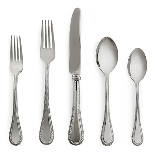 Kate Spade New York Women's Union Street 5 Piece Set Silver Flatware