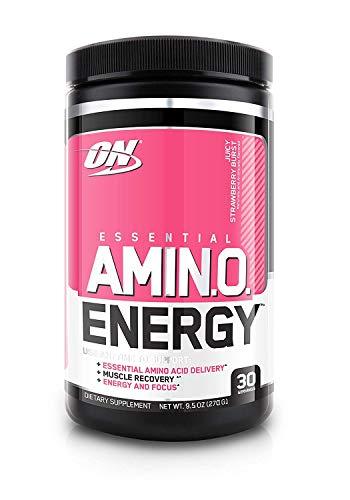 Optimum Nutrition Amino Energy Preworkout & Essential Amino Acids, Juicy Strawberry Burst, 270 Gram